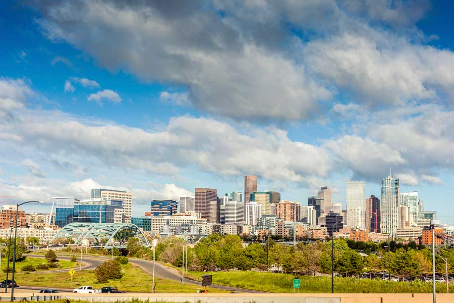 Denver city skyline for attractions